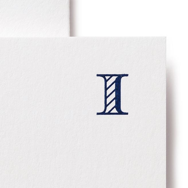 Alphabet-Karten I in Weiß