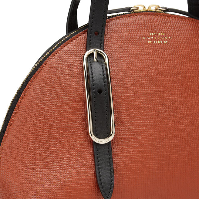1/2 Moon Shoulder Bag in Crossgrain Leather