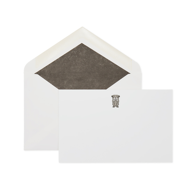 Cartes de correspondance motif bouledogue