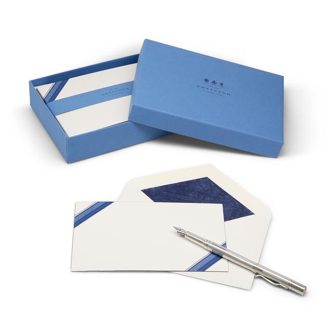Diagonal Stripe Border Correspondence Cards