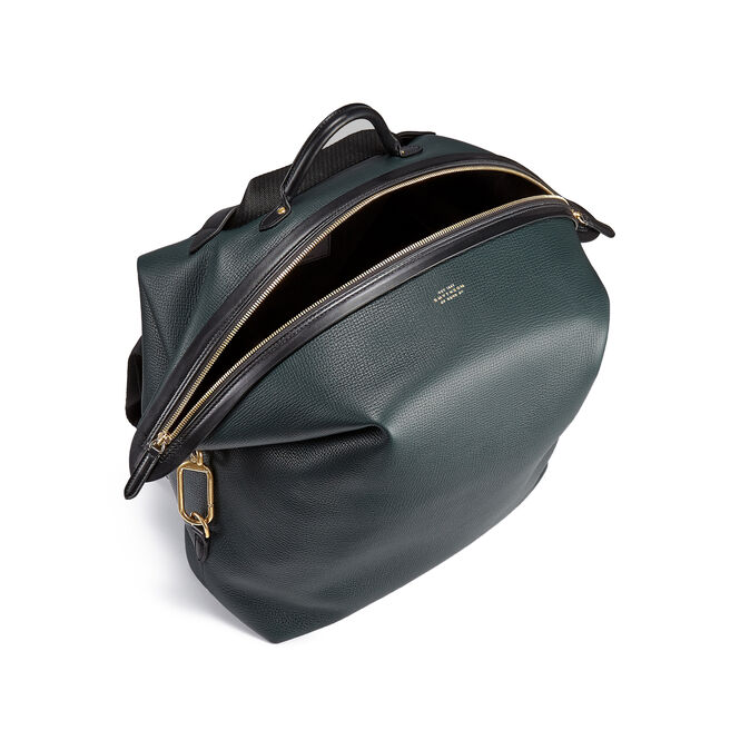 Large Clip Down Rucksack in Large Grain Leather