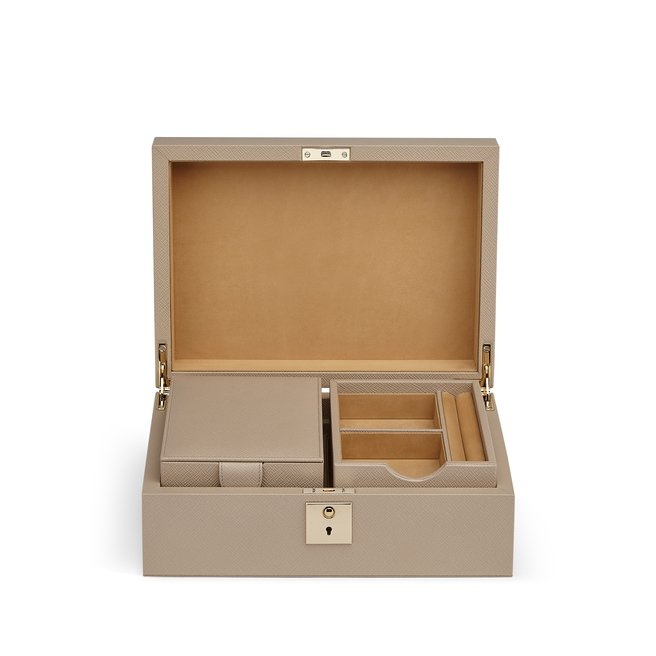 Panama ジュエリーボックス(トラベルトレイ付き)