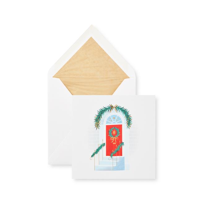 Festive Doorway Christmas Card