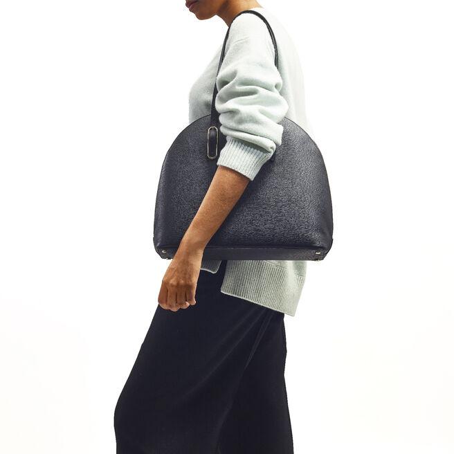 High Moon Shoulder Bag in Crossgrain Leather