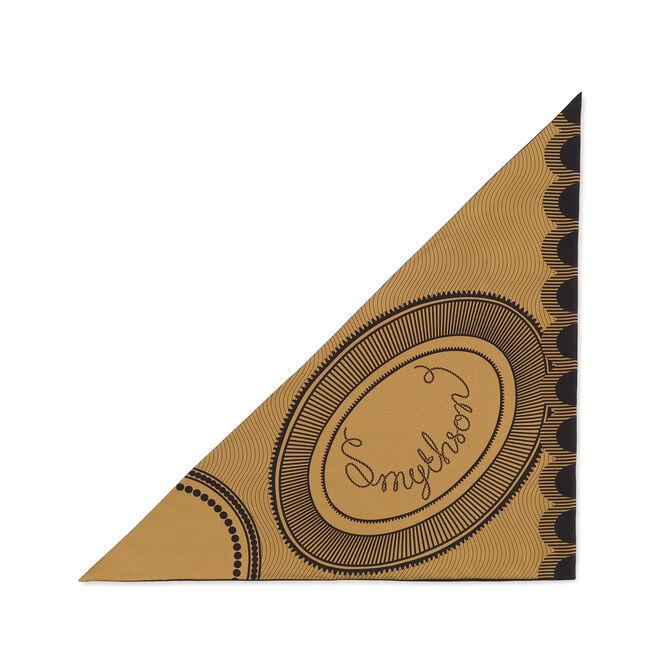 Swirl Logo Silk Triangle Scarf
