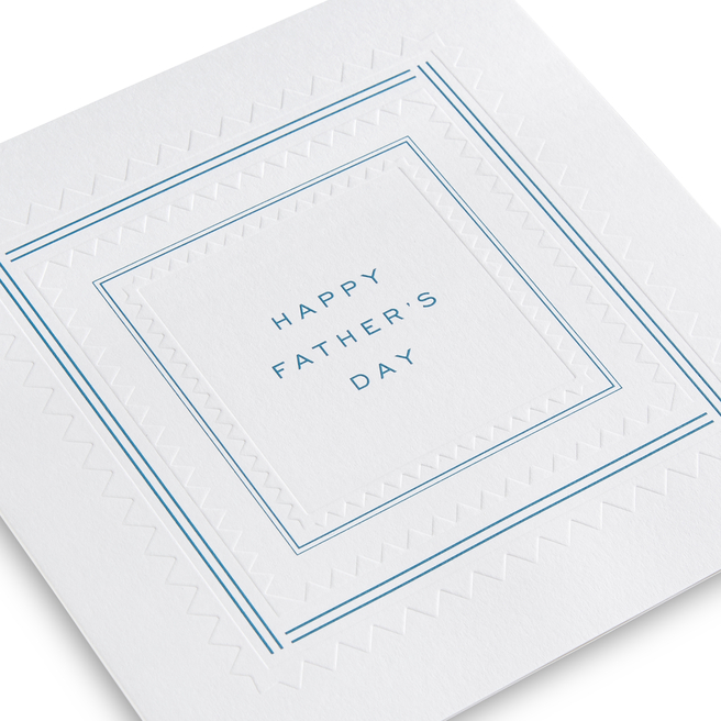 Father's Day Embossed Card