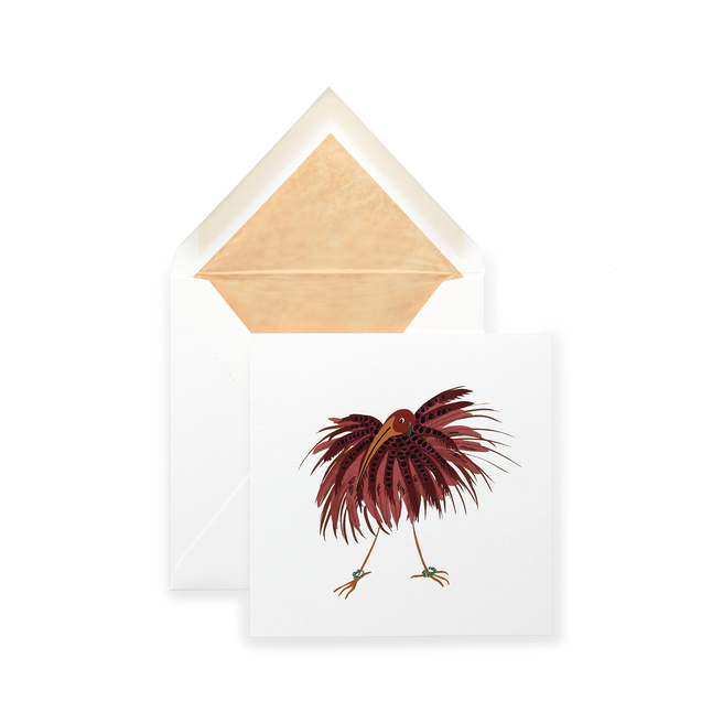 Fluffy Bird Card