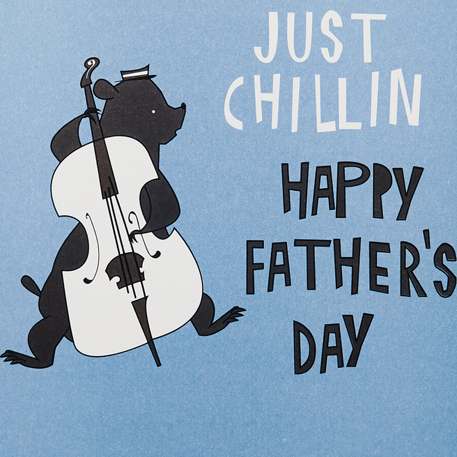 Just Chillin Father's Day Card