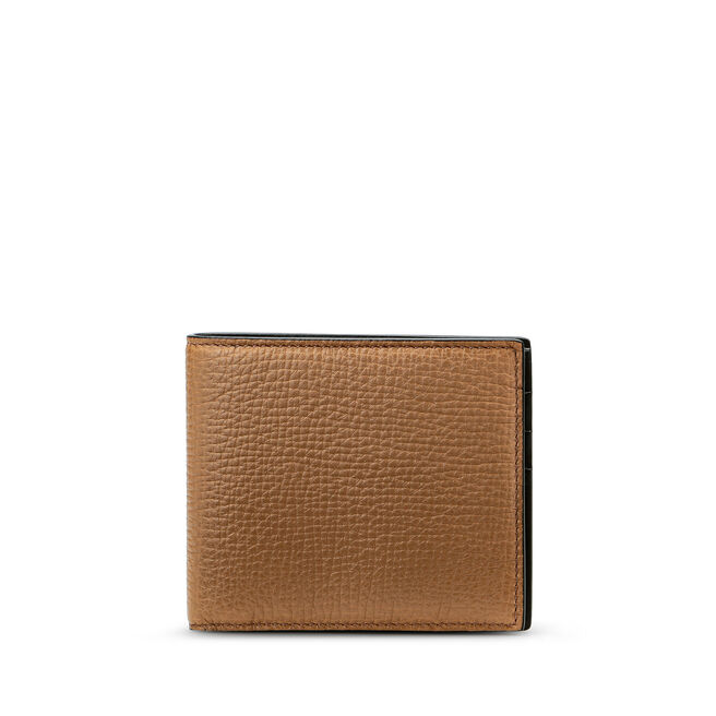 6 Card Wallet in Large Grain Leather