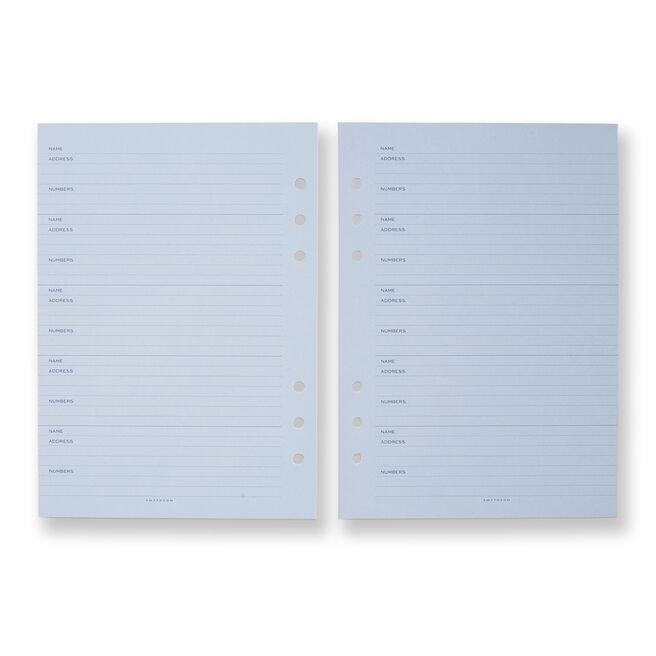 Dukes Organiser Address Refill Pale Blue