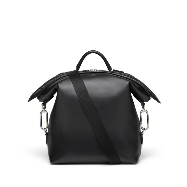 Small Clip Down Rucksack in Smooth Leather