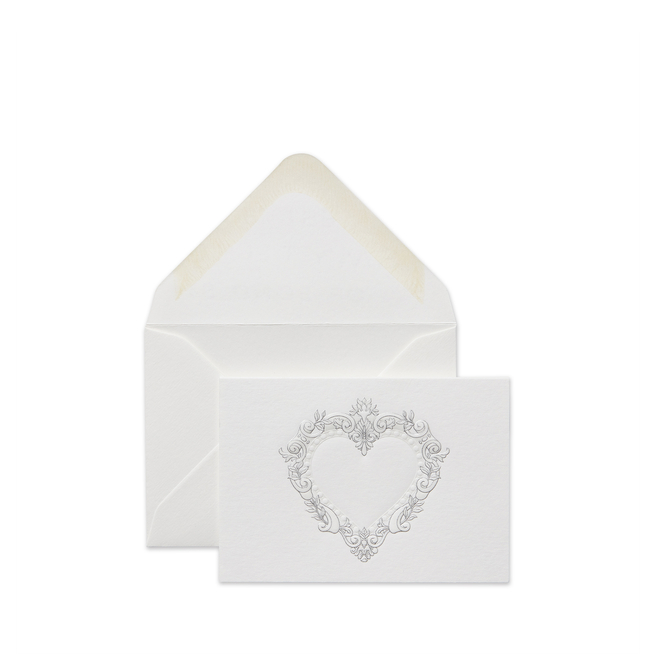 Stucco Heart Small Valentine's Card
