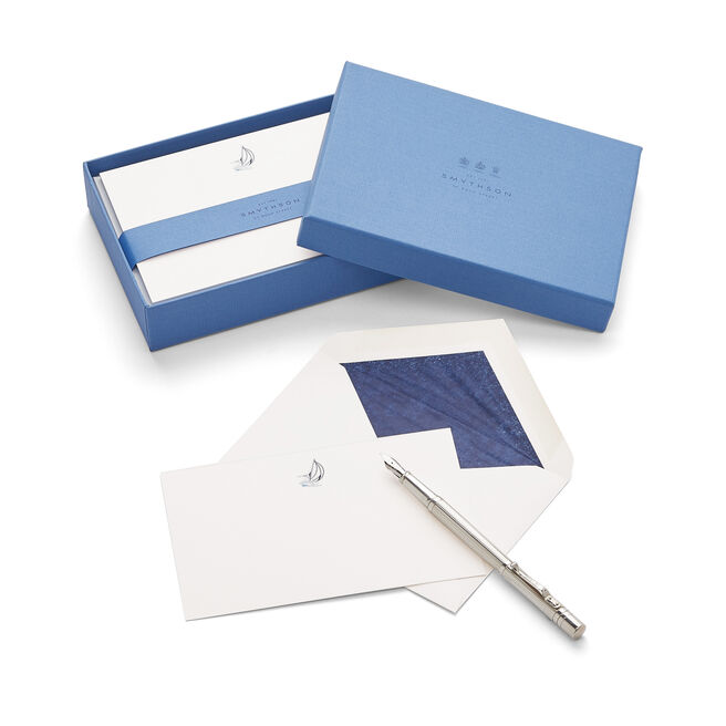 Sailboat Correspondence Cards White