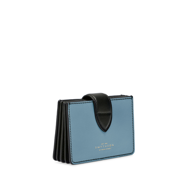 Concertina Card Case in Smooth Leather