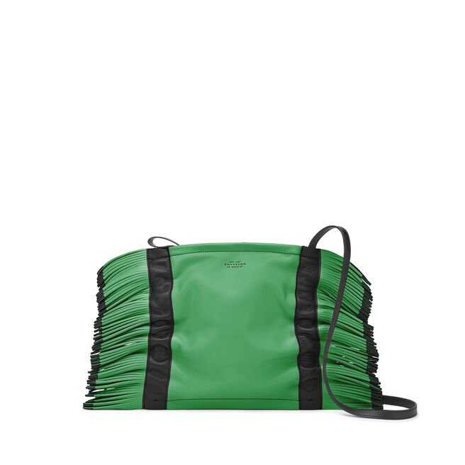 Feather Crossbody Bag in Smooth Leather