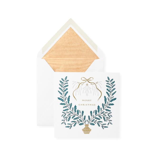 Holly & Mistletoe Christmas Card