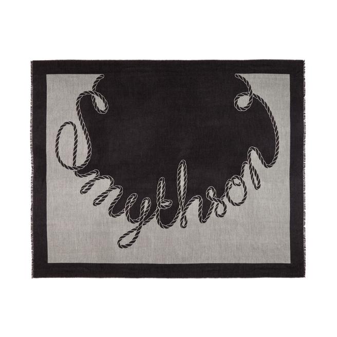 Sciarpa-coperta in cashmere con logo a spirale