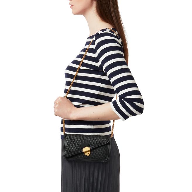 Basketweave Small Envelope Chain Shoulder Bag