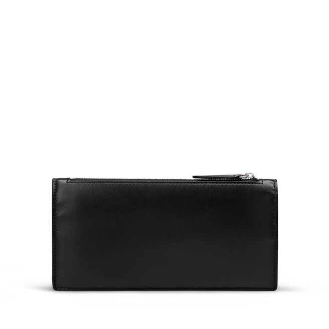 Large Double Zip Purse in Smooth Leather