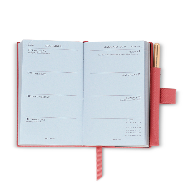 2021 Wafer Diary with Gilt Pencil