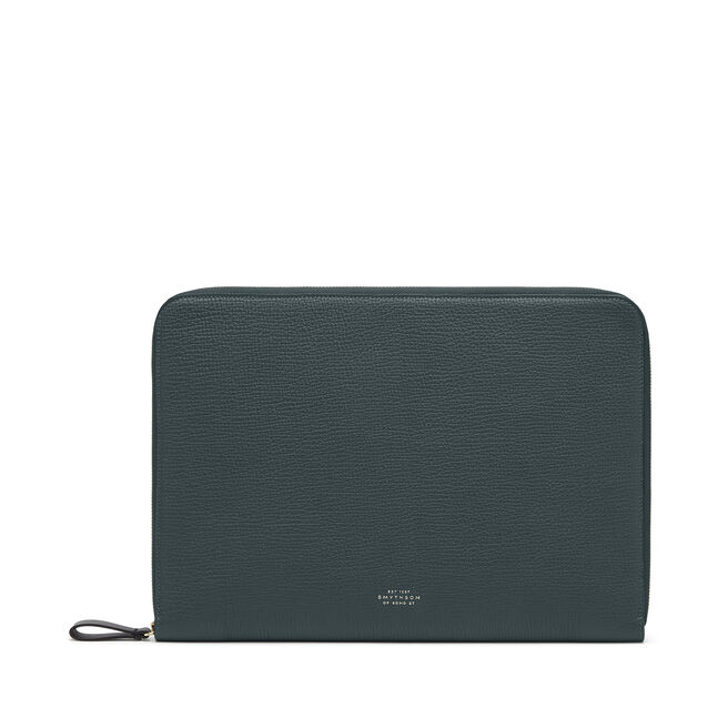 """13"""" Laptop Case in Large Grain Leather"""