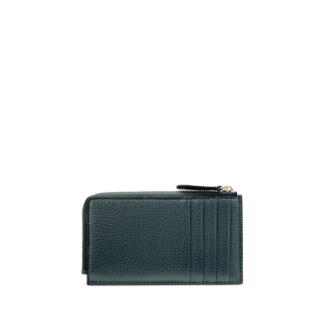 Flat Coin Purse in Large Grain Leather