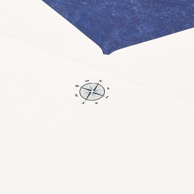 Compass Correspondence Cards White
