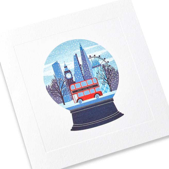 Snow Globe Christmas Card Set