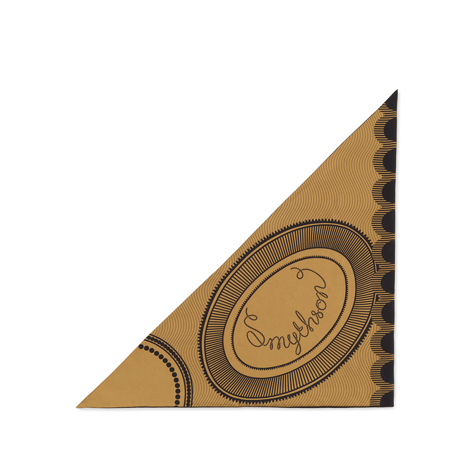 Swirl Logo Small Silk Triangle Scarf