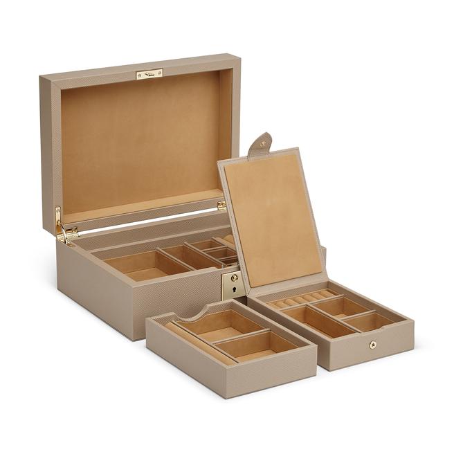 Panama Jewellery Box with Travel Tray