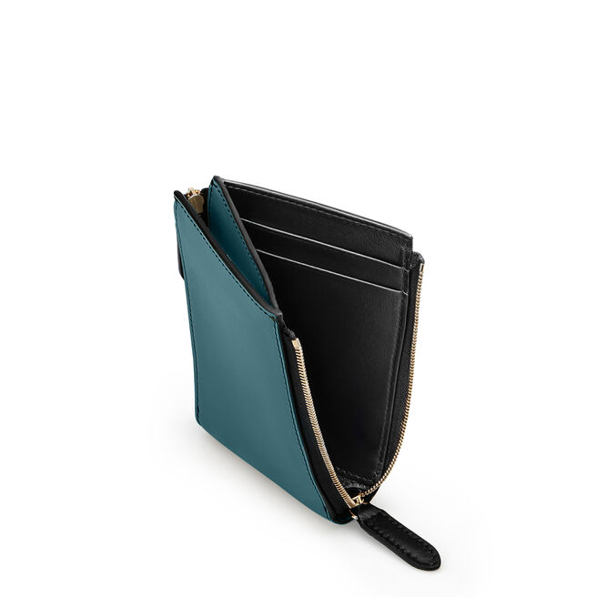 Double Zip Wallet in Smooth Leather
