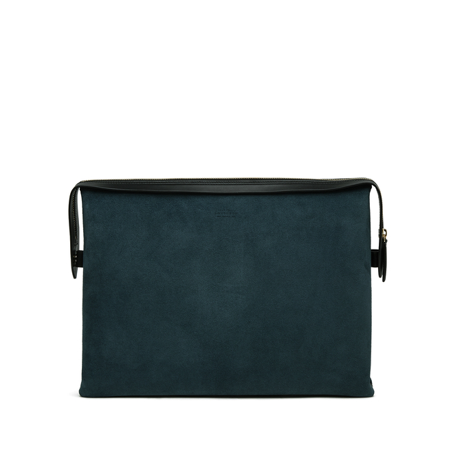 Zip Guard Folio in Suede