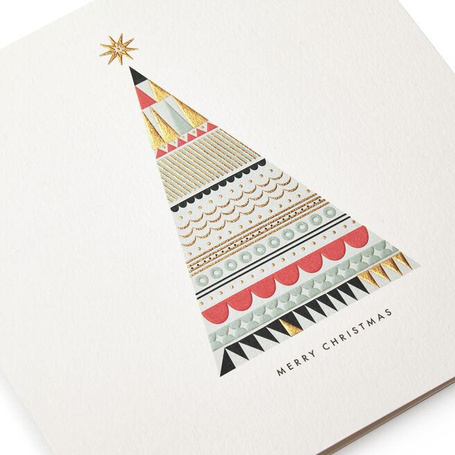 Graphic Tree Christmas Cards