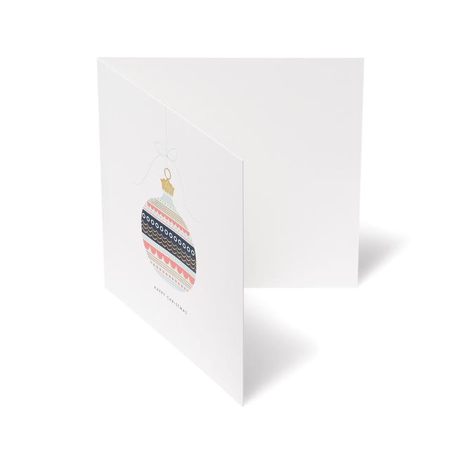 Geo Bauble Christmas Card