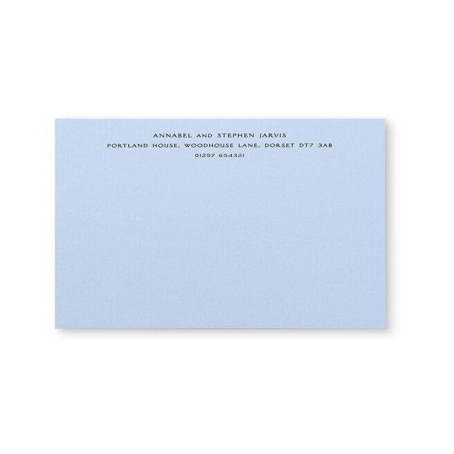 Kings Correspondence Card with Name and Address (Top)