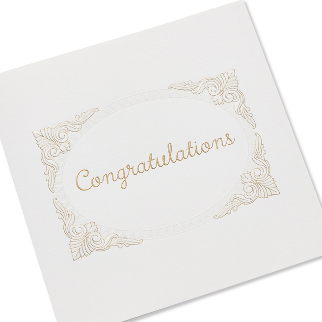 Model Dye Frame Congratulations Card