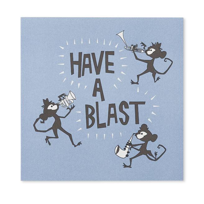 Have A Blast Birthday Card Pale Blue