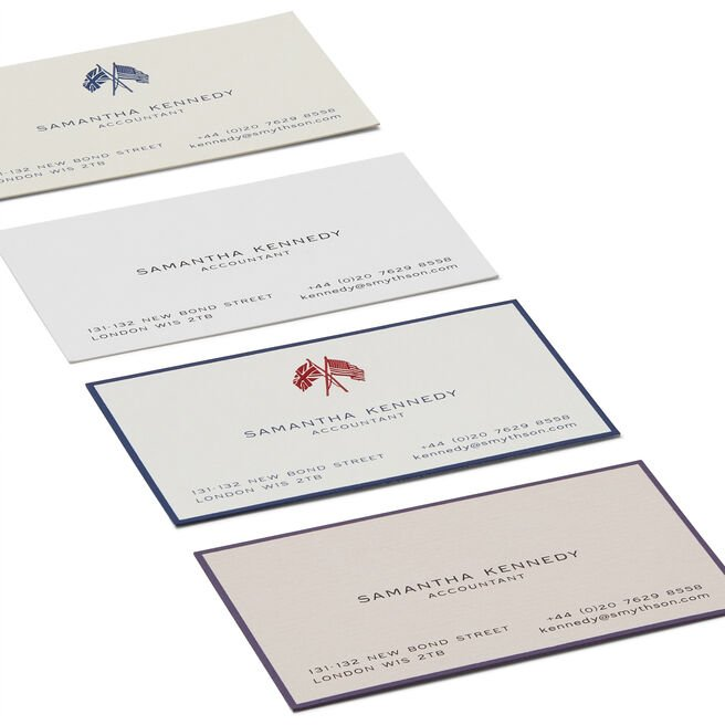 Business Card with Name and Address in Classic Layout