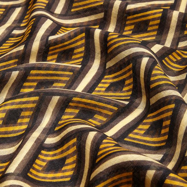 Diamond Stripe Linen Scarf