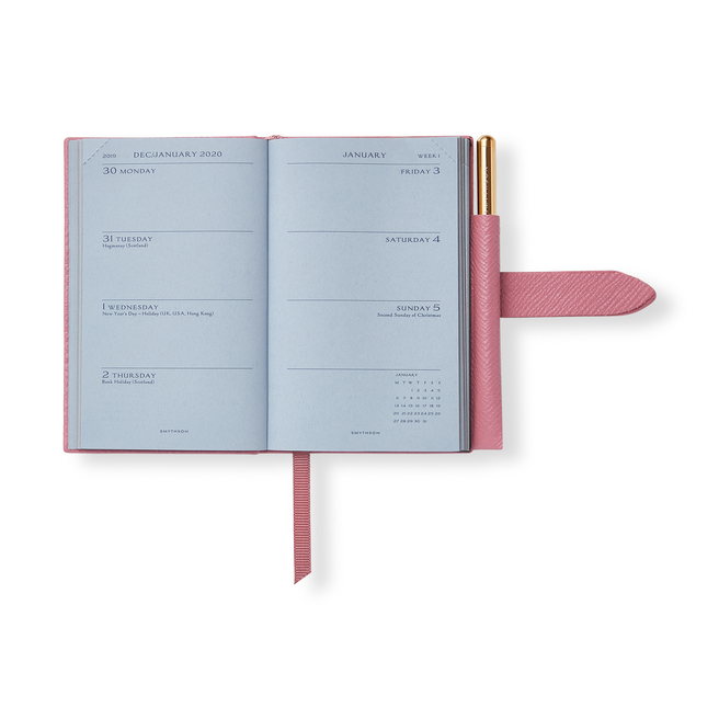 2020 Wafer Agenda with Gilt Pencil