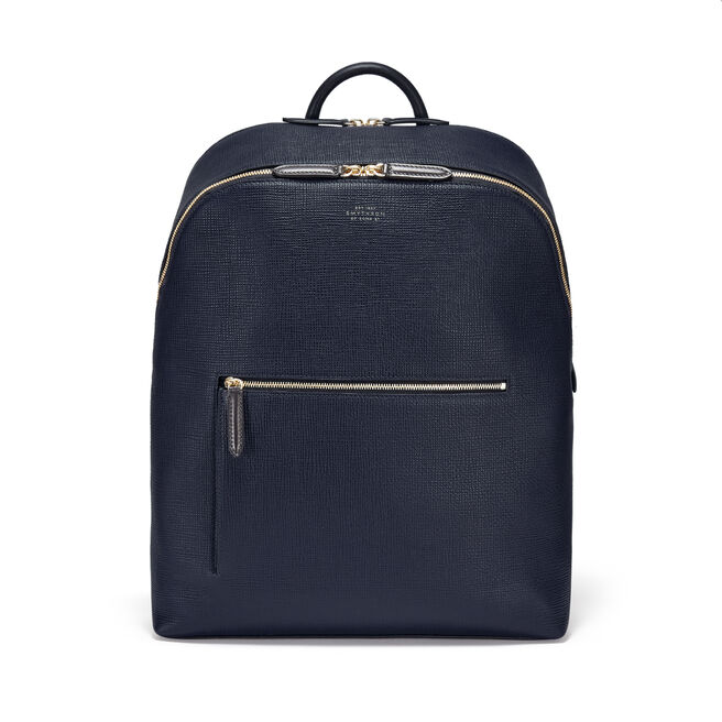 Panama Double Zip Backpack in Crossgrain Leather