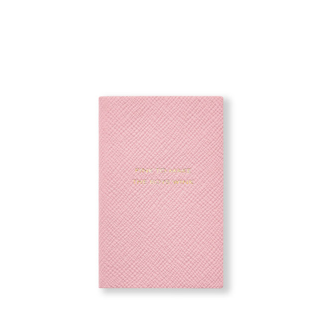 Pink To Make The Boys Wink Wafer Notebook