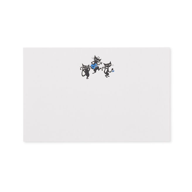 Cool Cats Correspondence Cards Blue