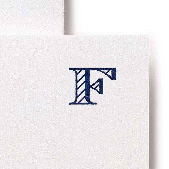 F Alphabet Cards White