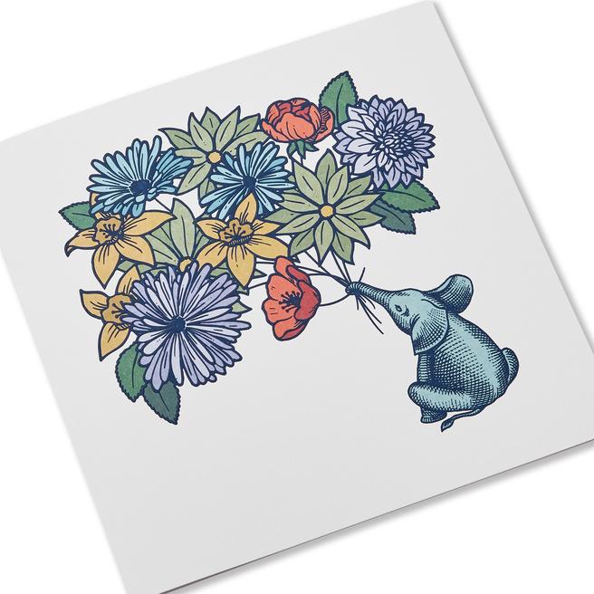 Elephant グリーティングカード