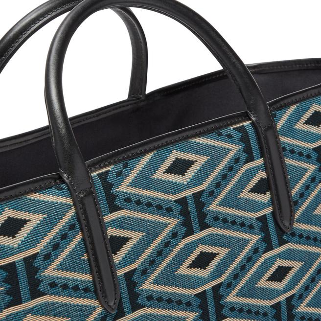 Lozenge Jacquard Shopper Bag