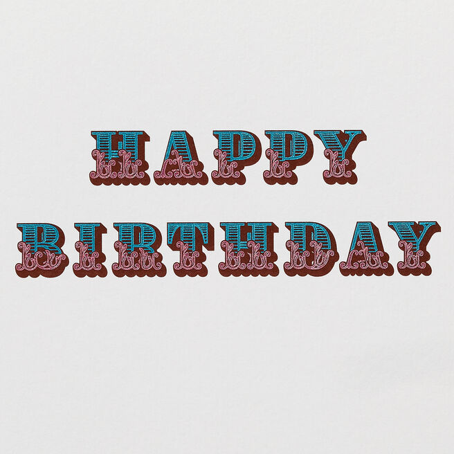 Circus Birthday Card White