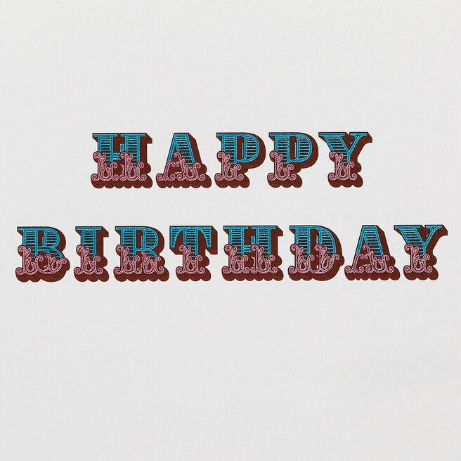Circus Birthday Card White