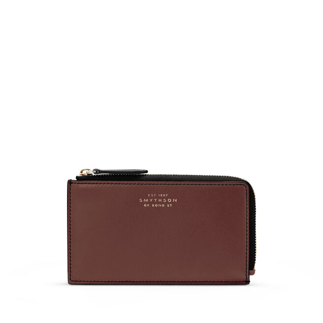 4cc Flat Coin Purse in Smooth Leather