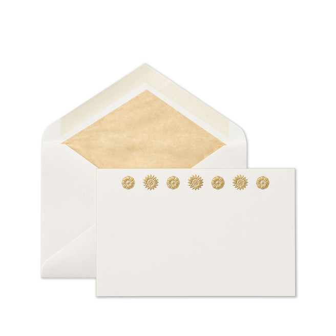 Stucco Flowers Correspondence Cards